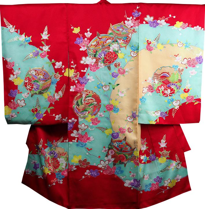 お宮参り 着物 女 女児祝着 正絹 のしめ 初着 産着 新品j2029
