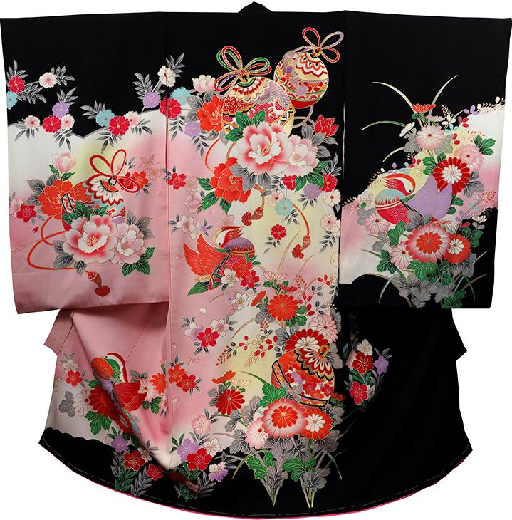お宮参り 着物 女 女児祝着 正絹 のしめ 初着 産着 新品j2034