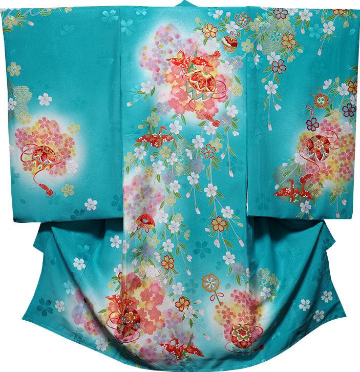 お宮参り 着物 女 女児祝着 正絹 のしめ 初着 産着 新品j3012