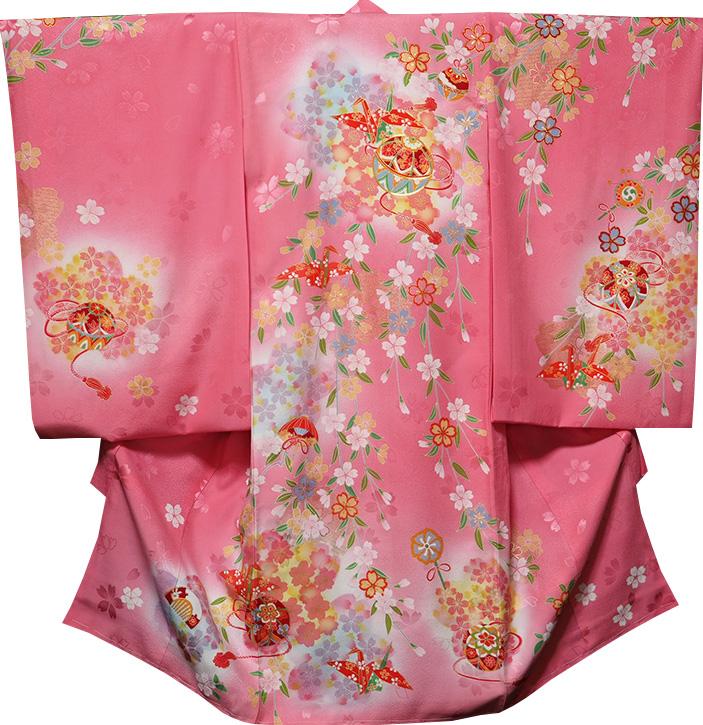 お宮参り 着物 女 女児祝着 正絹 のしめ 初着 産着 新品j3014