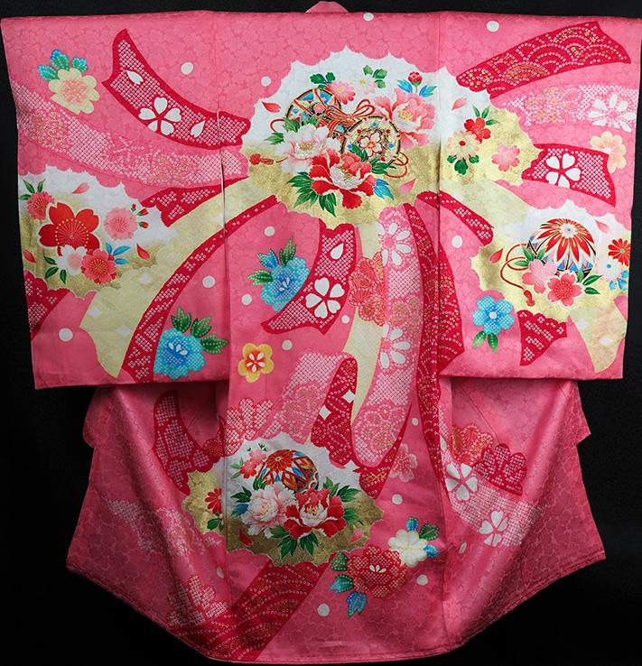 お宮参り着物 女児祝着 正絹 のしめ 初着 産着 新品j3049