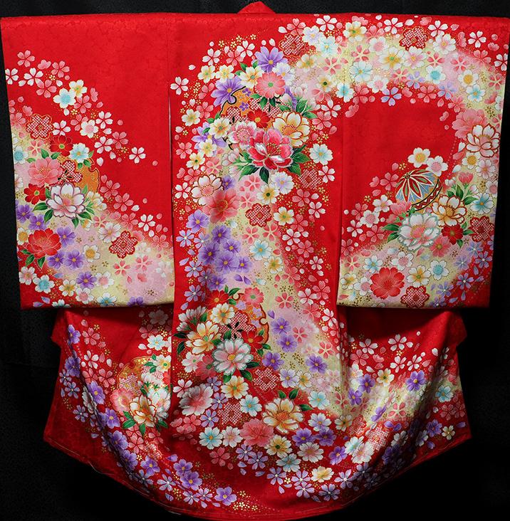 お宮参り着物 女児祝着 正絹 のしめ 初着 産着 新品j3051