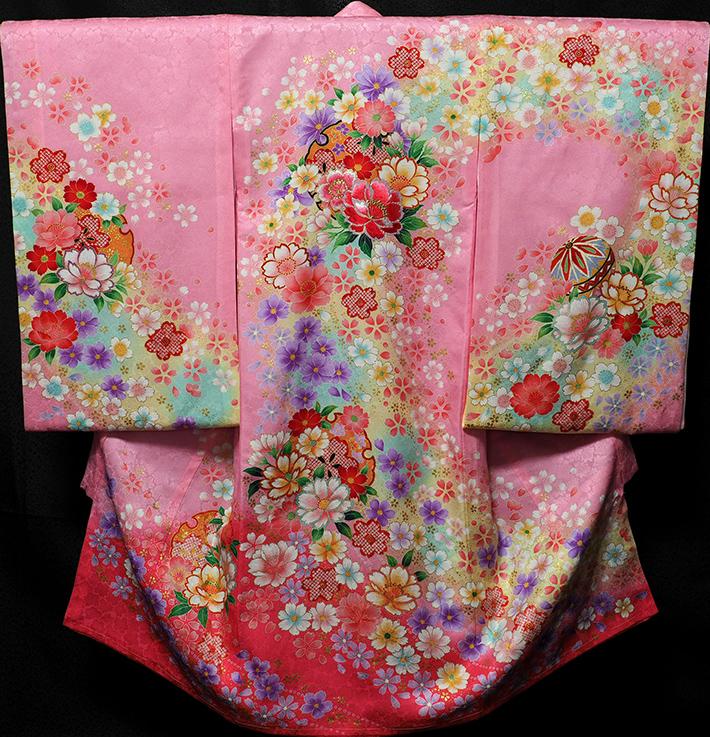 お宮参り着物 女児祝着 正絹 のしめ 初着 産着 新品j3052