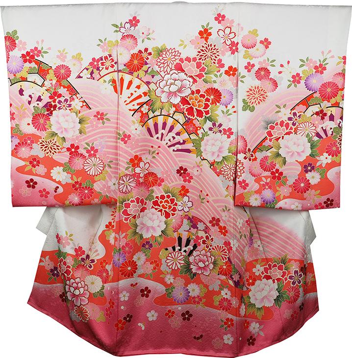 お宮参り着物 女児祝着 正絹 のしめ 初着 産着 新品j3054
