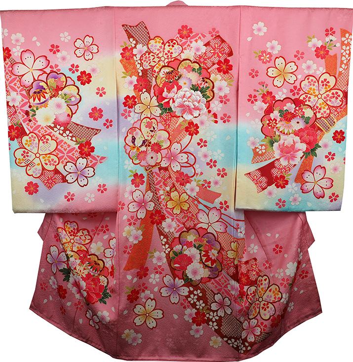 お宮参り着物 女児祝着 正絹 のしめ 初着 産着 新品j3055