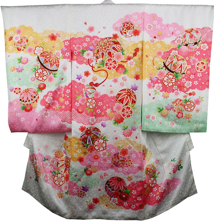 お宮参り着物 女児祝着 正絹 のしめ 初着 産着 新品j3056