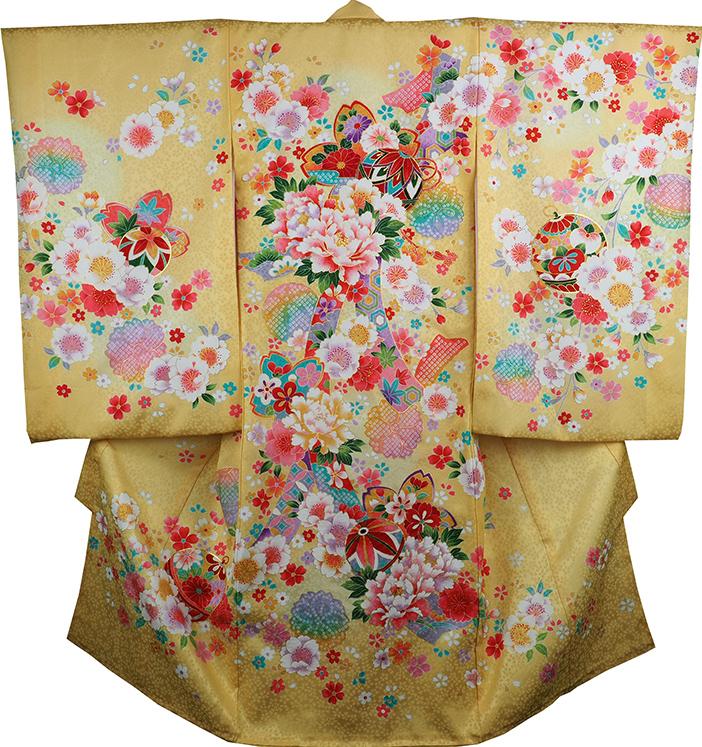 お宮参り着物 女児祝着 正絹 のしめ 初着 産着 新品j3059