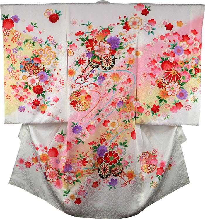 お宮参り着物 女児祝着 正絹 のしめ 初着 産着 新品j3067