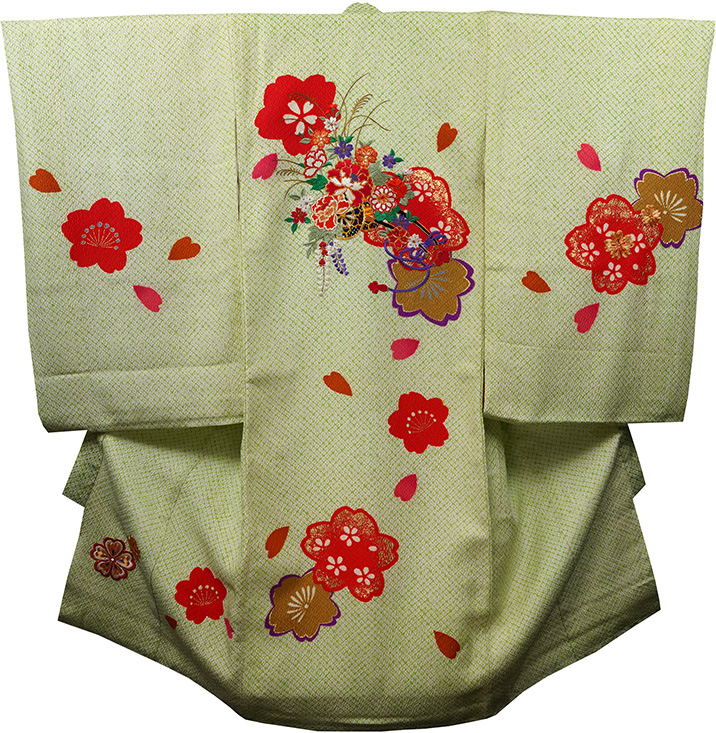 お宮参り着物 女児祝着 正絹 のしめ 初着 産着 新品j3070