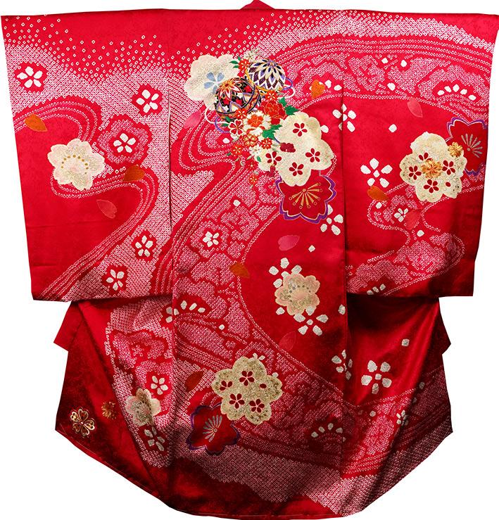 お宮参り着物 女児祝着 正絹 のしめ 初着 産着 新品j3071