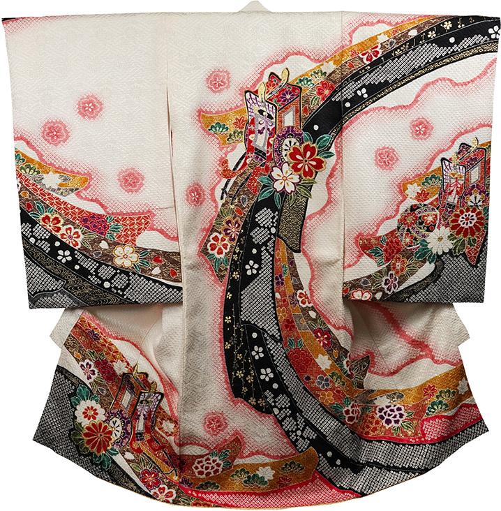 お宮参り着物 女児祝着 正絹 のしめ 初着 産着 新品j3072