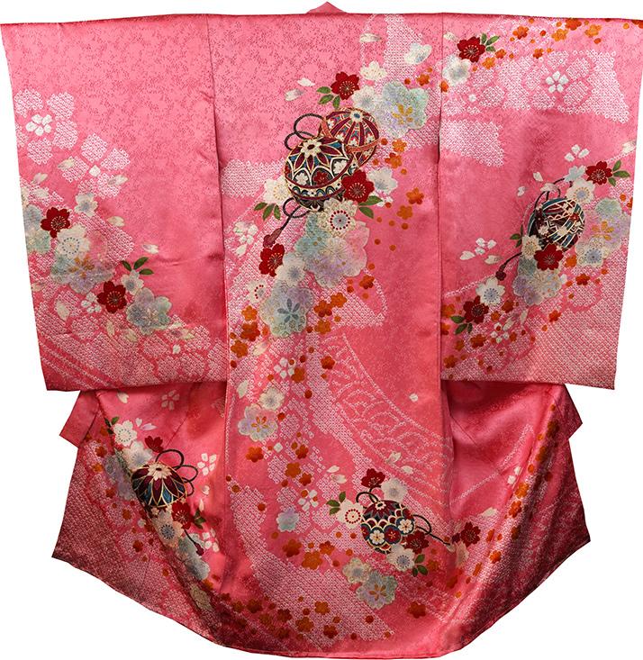 お宮参り着物 女児祝着 正絹 のしめ 初着 産着 新品j3075