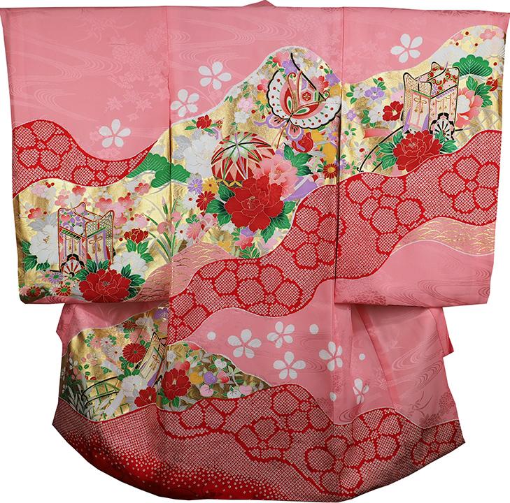 お宮参り 着物 女の子 祝着 正絹 のしめ 初着 産着 新品j3104