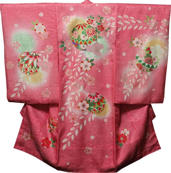 お宮参り 着物 女 女児祝着 正絹 のしめ 初着 産着 新品j3202