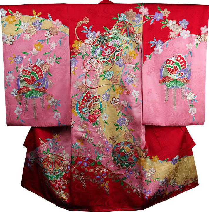 お宮参り 着物 女 女児祝着 正絹 のしめ 初着 産着 新品j3205