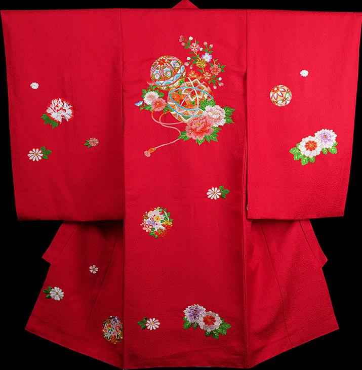 お宮参り 女の子 着物 女児祝着 正絹 のしめ 初着 産着 新品j3901