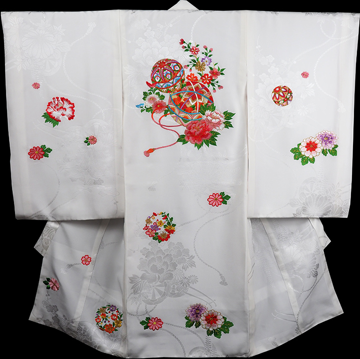 お宮参り 着物 女 女児祝着 正絹 のしめ 初着 産着 新品j3902