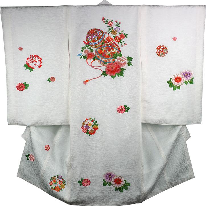 お宮参り 着物 女の子 祝着 正絹 のしめ 初着 産着 新品j3902