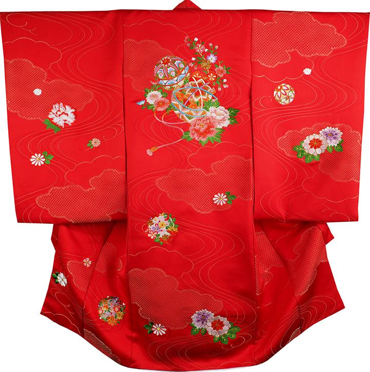 お宮参り 女の子 着物 女児祝着 正絹 のしめ 初着 産着 新品j3903a