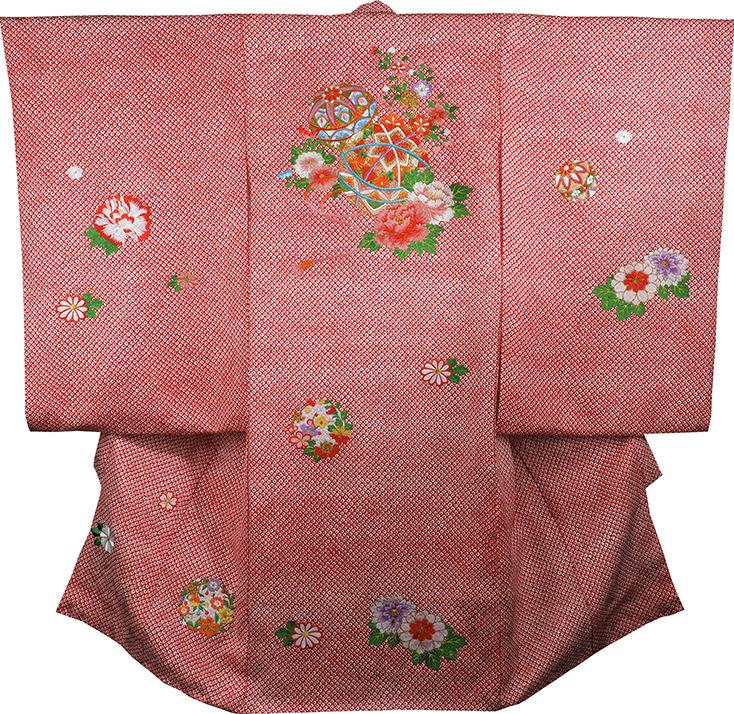 お宮参り 着物 女の子 祝着 正絹 のしめ 初着 産着 新品j3905
