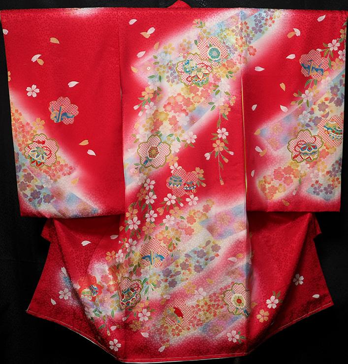 お宮参り 着物 女 女児祝着 正絹 のしめ 初着 産着 新品j4301