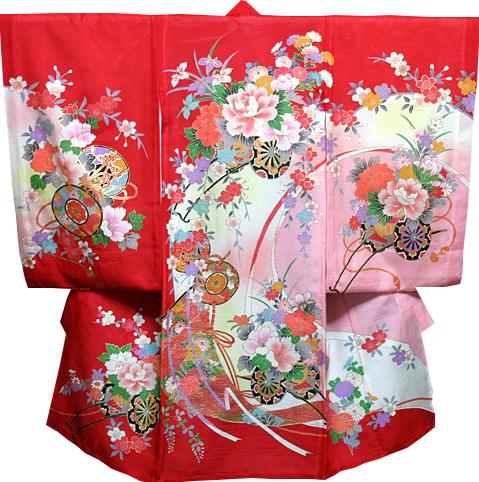 お宮参り 着物 女 女児祝着 絽(夏専用)正絹 のしめ 初着 産着 新品j701