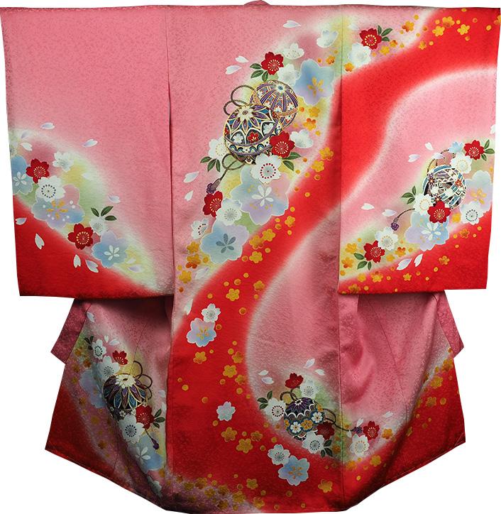 お宮参り 着物 女 女児祝着 正絹 のしめ 初着 産着 新品j9204