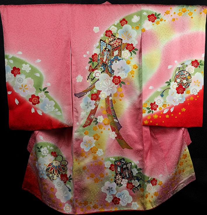 お宮参り 着物 女 女児祝着 正絹 のしめ 初着 産着 新品j9205