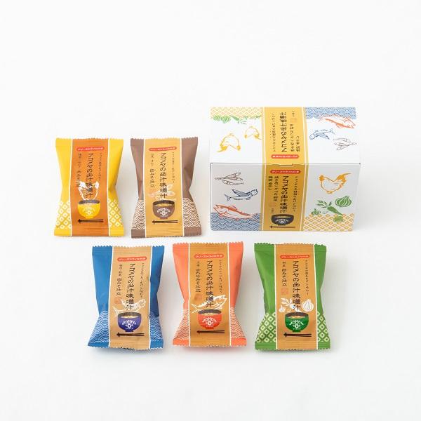 あこめや アコメヤ 出汁味噌汁 フリーズドライ アコメヤの出汁味噌汁 売店 SALE開催中 ギフト BOX入り 5種セット