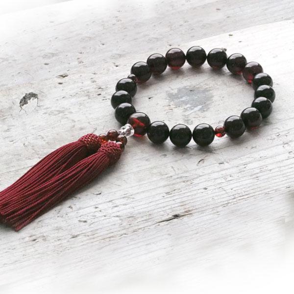 【天然琥珀】永遠の命を意味する琥珀の数珠 ギフト 贈り物に 【jyu010】【Sランク】 【男性用・女性用】【一点もの】【パワーストーン・天然石】 ジュエリー【送料無料】