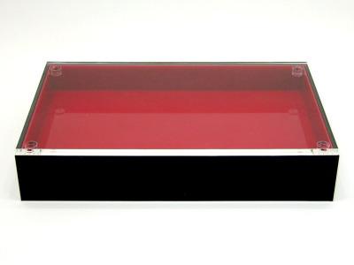 【花氷/ブラック×スカーレット】アクリル・花台・水盤