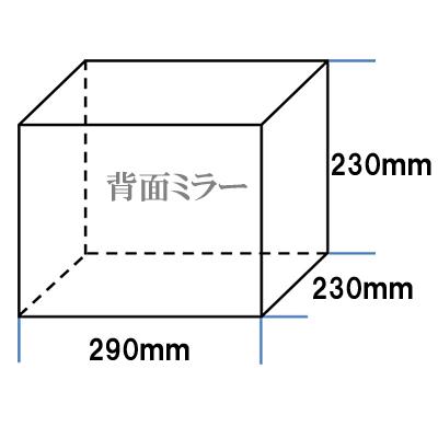 国産 【台座なし】 コレクションケース アクリル板 ディスプレイケース W290mm H230mm D230mm 背面ミラー (透明 アクリル ケース ボックス フィギュア 人形ケース) アクリルケース フィギュアケース