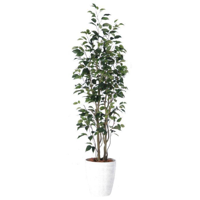 お部屋やお店のディスプレイに最適 お気に入り 造花 人工観葉植物 ベンジャミンスリムFST バーク付き 高:150cm BV98649 百貨店 グリーン ディスプレイ インテリア × 横:50cm