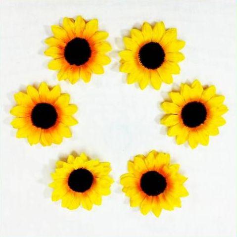 メール便対応 ディスプレイ アレンジや花束の材料に 造花 夏 ひまわり ミニヒマワリ アレンジ 低廉 アートフラワー プレゼント 990061 向日葵 花だけ
