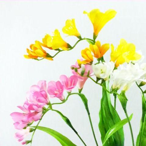 ディスプレイ アレンジや花束の材料に 爆買い送料無料 造花 春 超安い フリージア FS-7701 素材 ふりーじあ FS7701