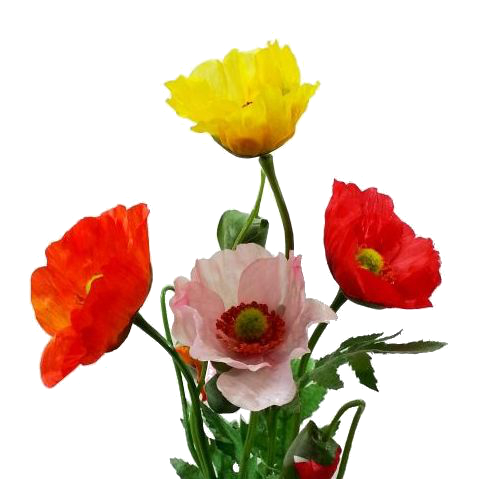 ディスプレイ アレンジや花束の材料に 造花 春 ポピー FF-2864 990165 雛芥子 お求めやすく価格改定 ヒナゲシ 訳あり ぽぴー