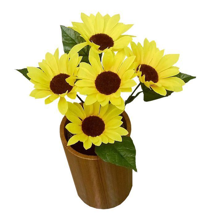 飾りつけやアクセサリーに 永遠の定番 造花 日本限定 夏 ひまわり ミドルサイズヒマワリ 20006 向日葵 サンフラワー ヒマワリ