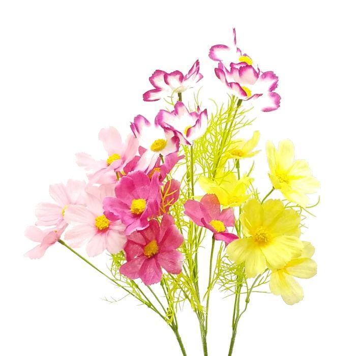 春夏秋冬季節の造花を単品販売 ディスプレイ アレンジや花束の材料に 造花 セール特価 秋 5輪コスモス FS-9062 秋桜 こすもす 店内全品対象 990018 FS-9018