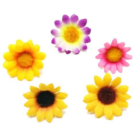 爆買い送料無料 メール便対応 ディスプレイ アレンジや花束の材料に 造花 夏 ひまわり 花だけ 向日葵 アートフラワー 990059 期間限定今なら送料無料 プチヒマワリ アレンジ