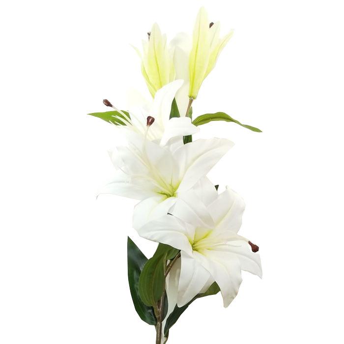 2020新作 お仏壇やお墓にリアルに飾れます 生花と混ぜてもOK 造花 夏 ロイヤルカサブランカ 百合 選択 ゆり ユリ FA-7108 FA7108