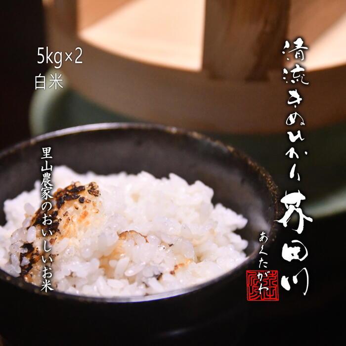 新米 米 お米 10kg 5kg×2 白米~分づき 精米 清流きぬひかり芥田川 【送料無料】【生産農家直送】里山農家のおいしいお米