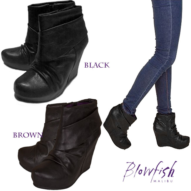 a0c2a91de8e Blowfish blow fish wedge sole ankle boots thickness bottom bootie booties  celebrity habitual use magazine publication celebrity habitual use ...