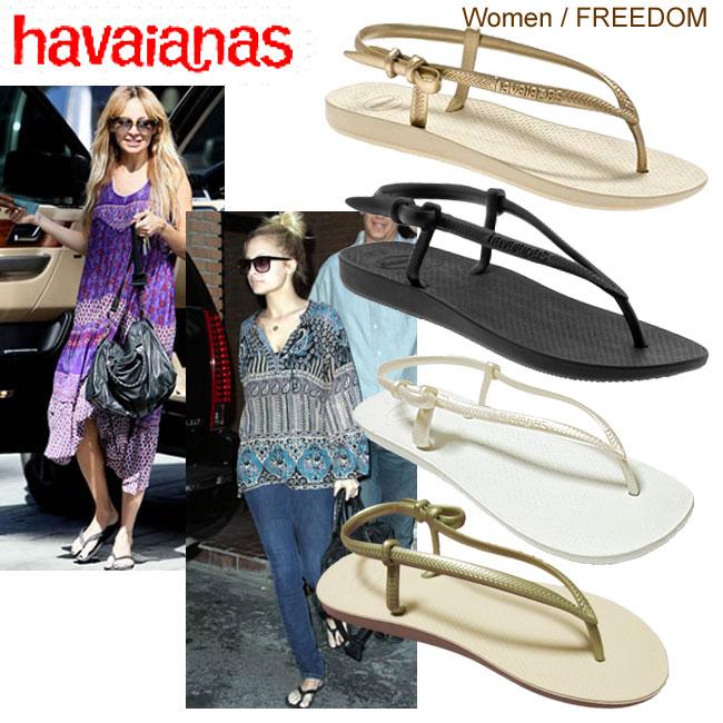 a73798f28 Havaianas Hawaii holes Fit  fitting Lady s beach sandal slim rubber  backstrap beach sandal celebrity habitual use 05P03Dec16 Lady s
