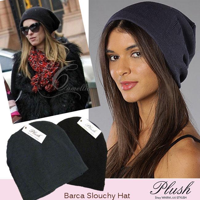 al-eli  Also like to plush plush slouch Hat knit Cap Barca Slouchy ... c63c1ffa451