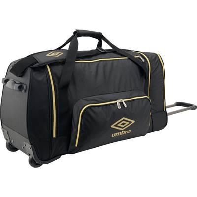 スポーツバッグ UMBRO アンブロ バッグ キャリーバッグ ホイール付UJS1739 ブラック/ゴールド 父の日 プレゼント ギフト