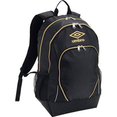 スポーツバッグ UMBRO アンブロ バッグ バックパック UJS1741 ブラック/ゴールド プレゼント ギフト