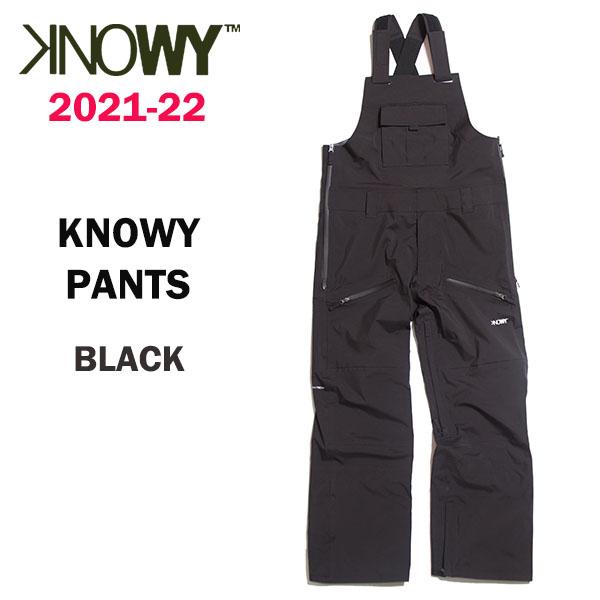 2022 KNOWY ノーウェイ スノーボードウェア 正規品 2021-22 カラー 送料無料 ノーウェイパンツ BLACK PANTS 誕生日/お祝い アウトレット