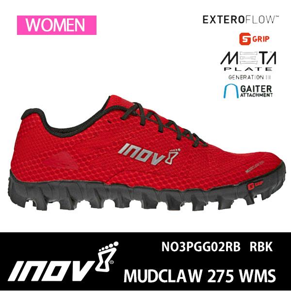 20SS イノヴェイト トレランシューズ MUDCLAW 275 WMS NO3PGG02RB RBK レディース 正規品