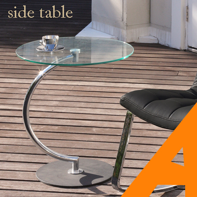 [6/11(木)1:59までP10倍!] サイドテーブル 北欧 おしゃれ ガラス 円形 ソファーテーブル ナイトテーブル ガラステーブル モダン 強化ガラス クロームメッキ ソファ