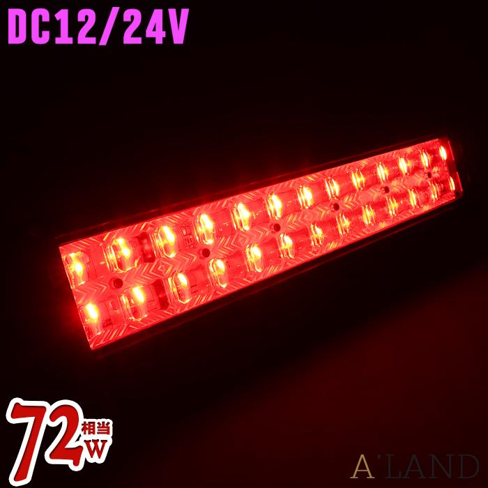 LED集魚灯 72w LED 赤色 12v 24v イルミネーション ライト 屋外 防水 led 作業照明 ワークライト 船舶 イカ アジ 太刀魚 シラスウナギ 鰻 釣り 船舶用品 非常灯 警告灯